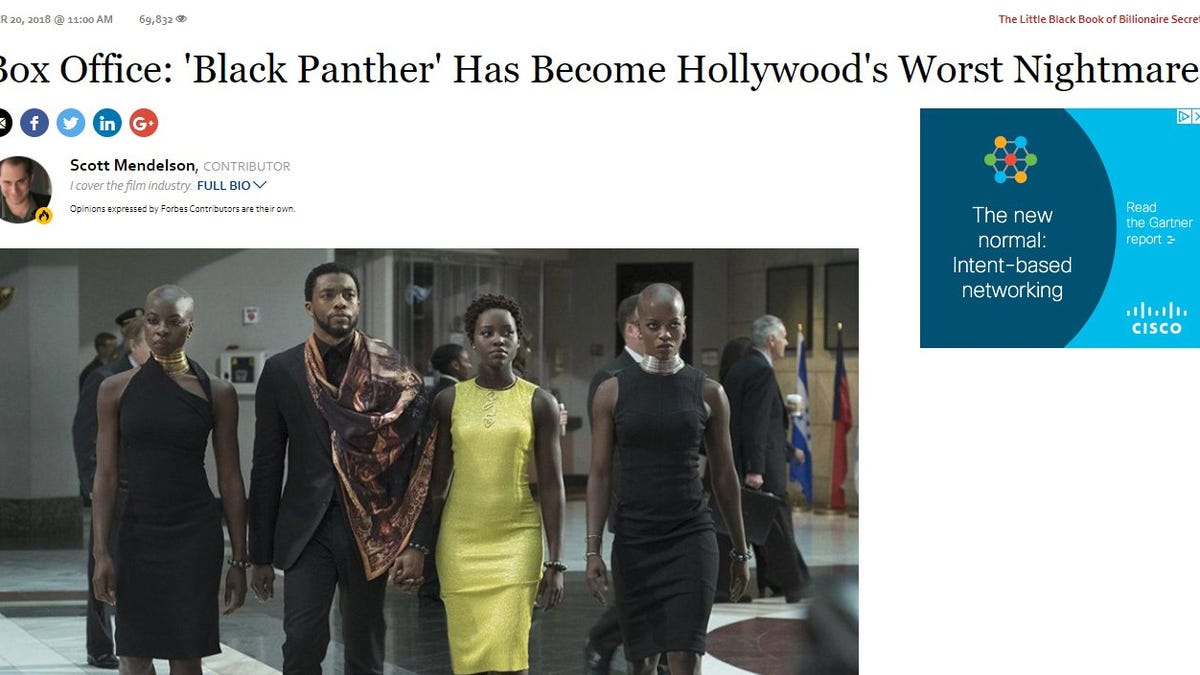 White Writer Calls Black Panther 'Hollywood's Worst Nightmare,' Blames It for White People's Problems