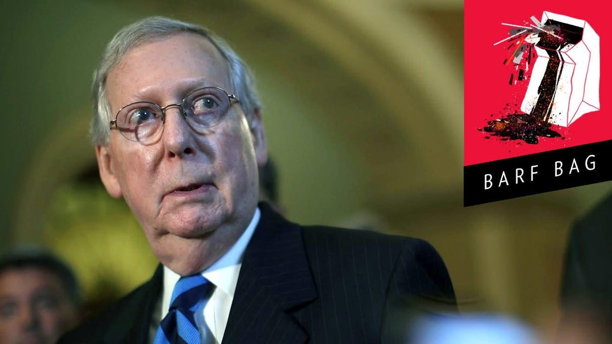 Not to Alarm Anyone, But Mitch McConnell Is Starting to Think This Trump Character Might Be Bad News