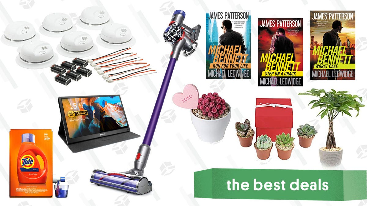 Sunday's Best Deals: Valentine's Day Succulents, Smoke Detectors, Portable Monitor, and More