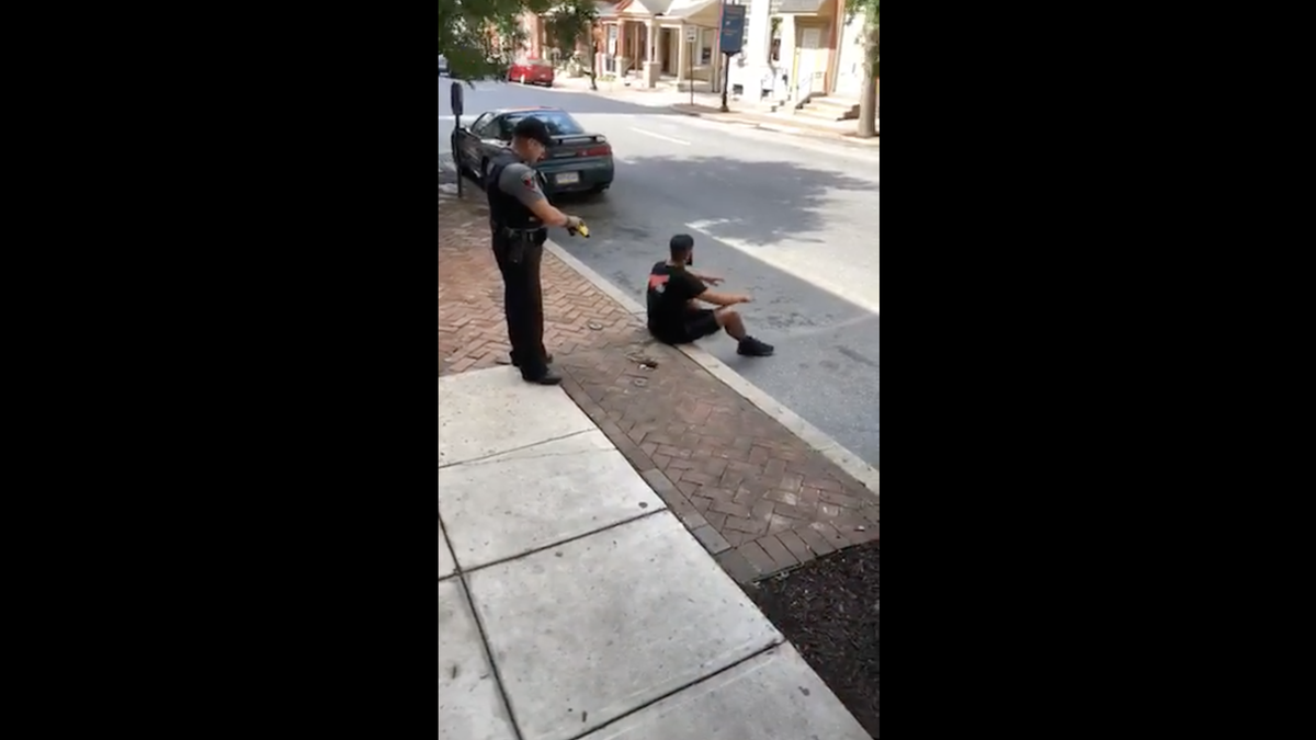 Cop Caught on Video Firing Taser at a Calm, Nonviolent, Compliant Man Who Was Sitting on a Curb