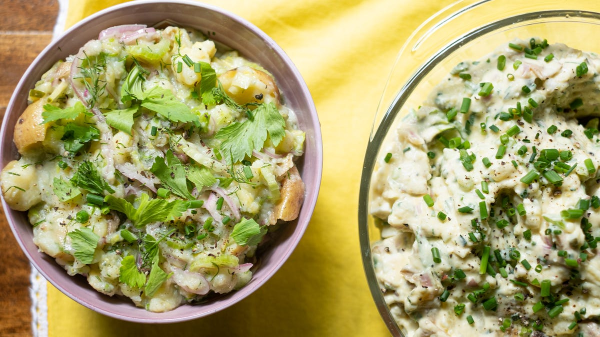 How to Make Extra-Creamy Potato Salad With Less Mayo