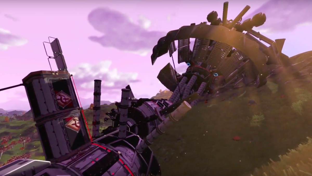 No Man's Sky Players Build Creepy Spaceship Recreation Of The Bermuda Triangle