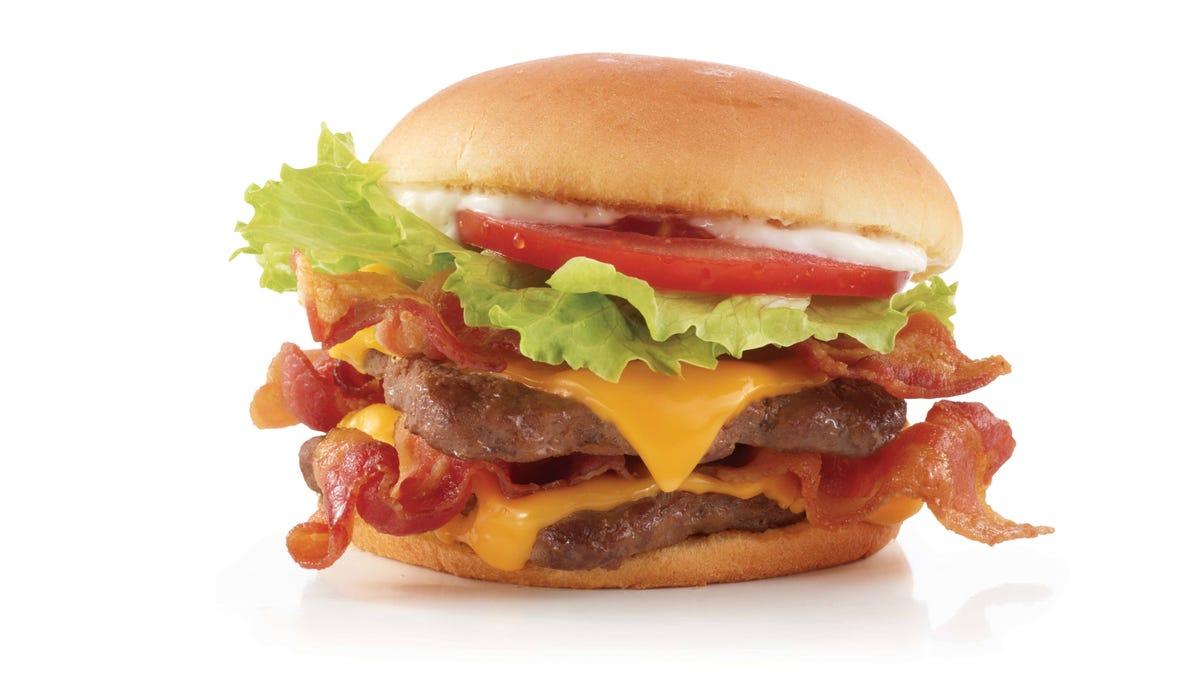 Wendy's Giant Junior Bacon Cheeseburger