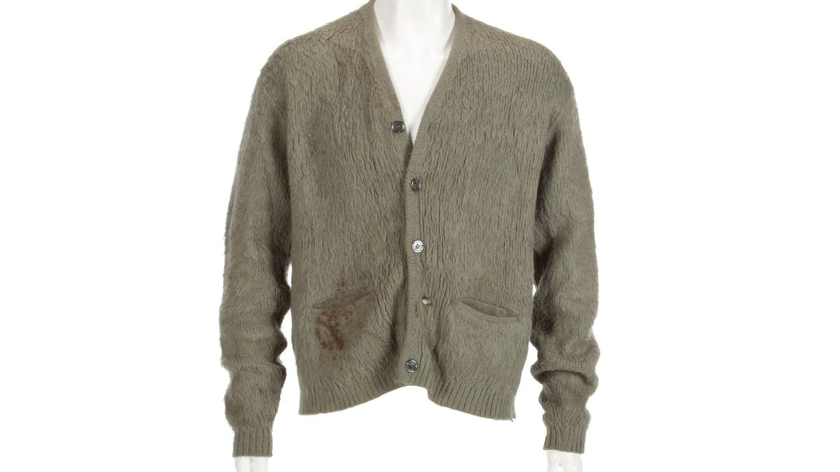 Kurt Cobain's Dirty Sweater Is Once Again for Sale