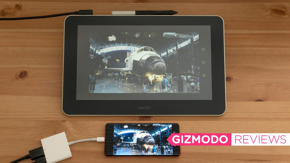 The First Wacom LCD Tablet That Works With Your Smartphone Needs Cord Management Skills - Gizmodo
