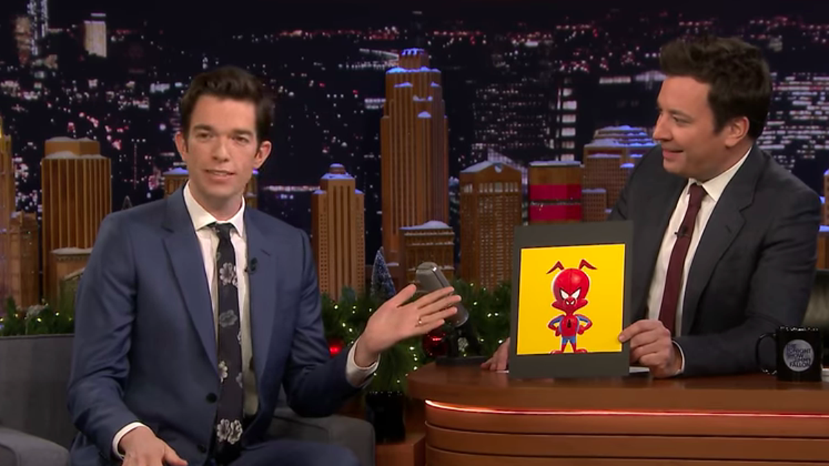 On The Tonight Show, John Mulaney talks Spider-Ham, Pete Davidson's Steely Dan rebellion