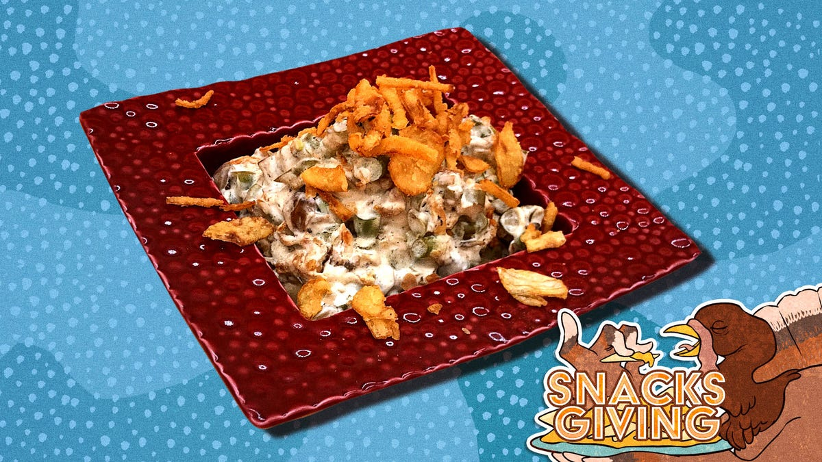Green bean casserole dip brings Thanksgiving to your couch