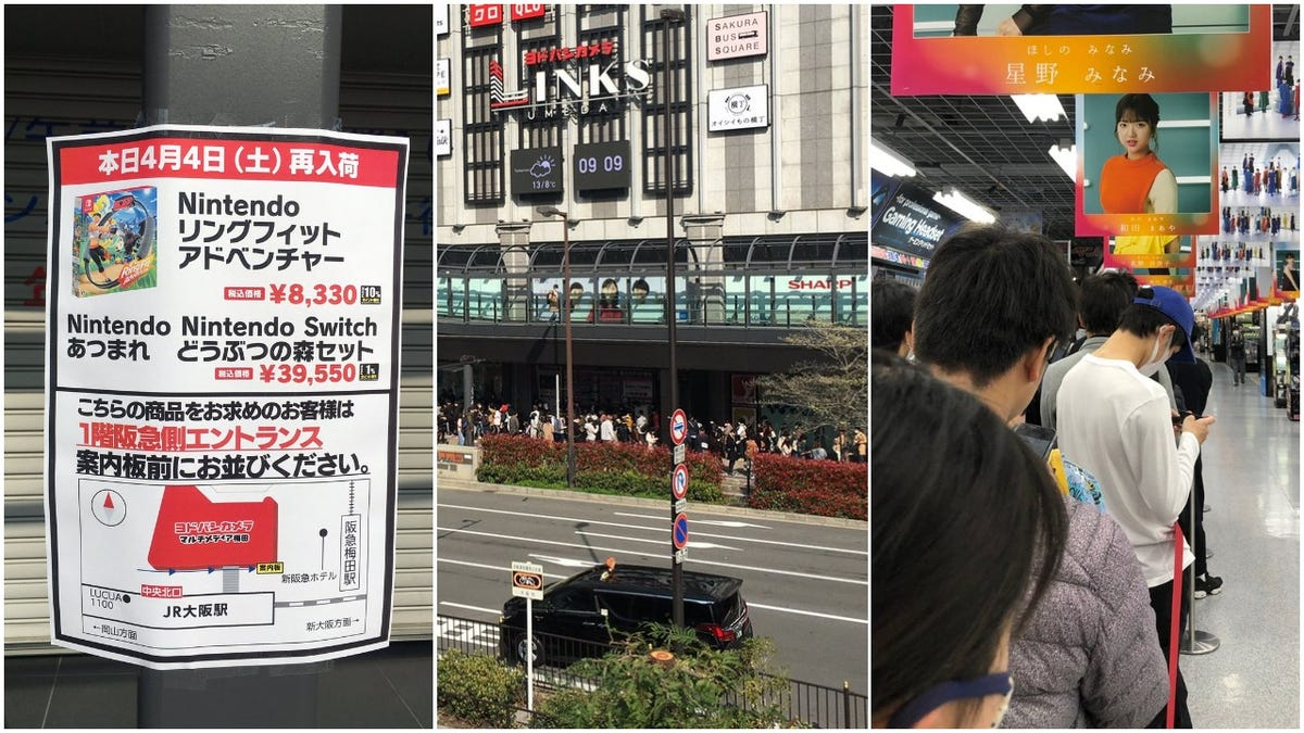 Hey Osaka, This Isn't A Good Time To Line Up For Nintendo Stuff