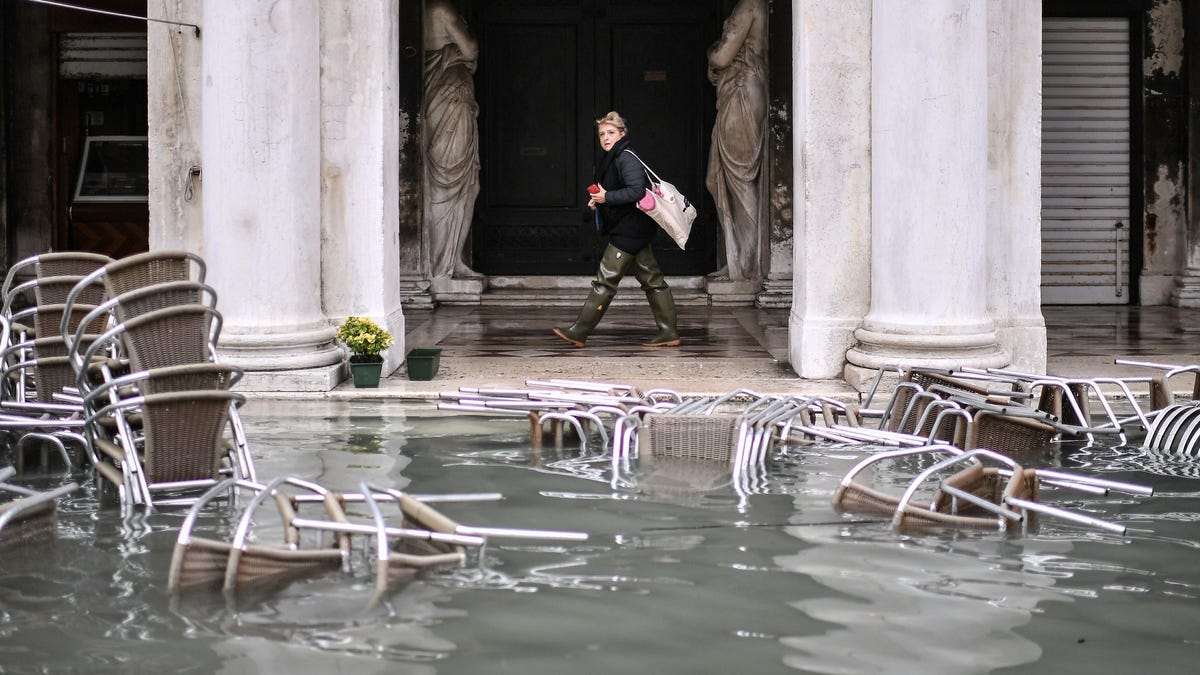 Venice Under a State of Emergency as Historic High Tide Floods City