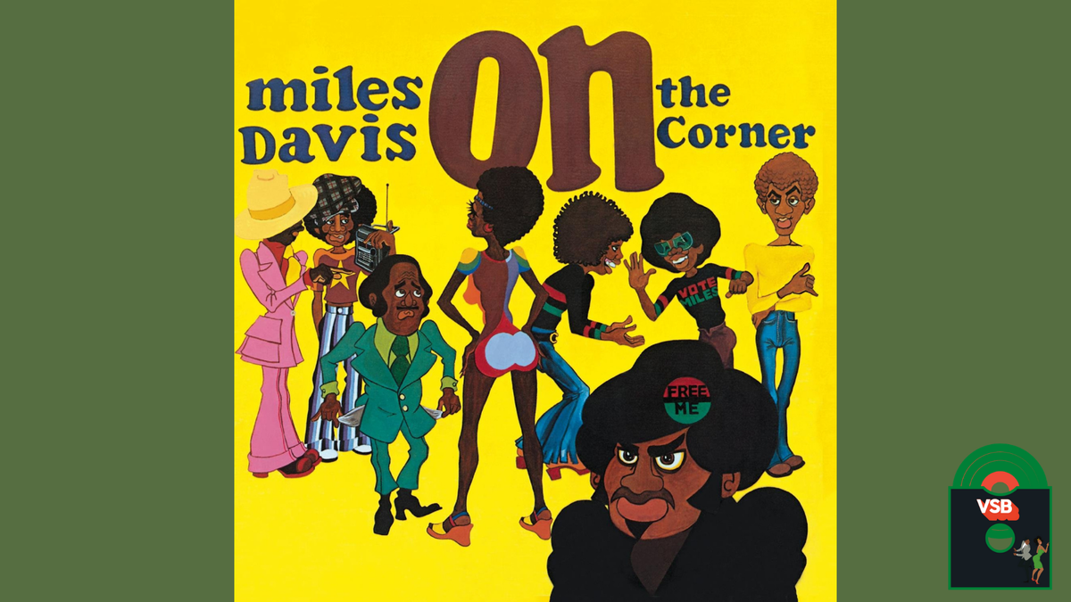 28 Days of Album Cover Blackness with VSB, Day 7: Miles Davis' On the Corner (1972)