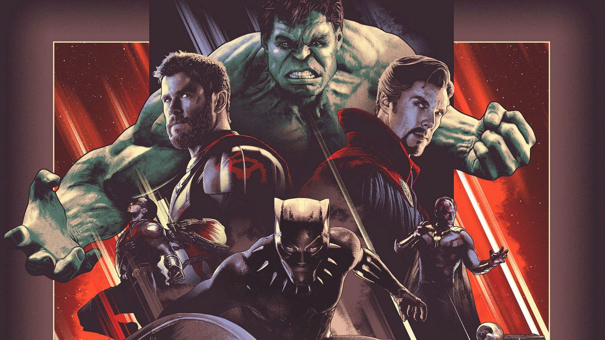 MCU The First 10 Years Anniversary Play-off Movie Posters Marvel Studios