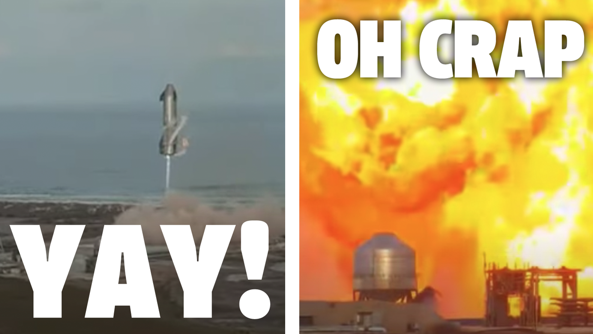 SpaceX Latest Starship Test Goes Perfectly Except For When It Explodes At The End