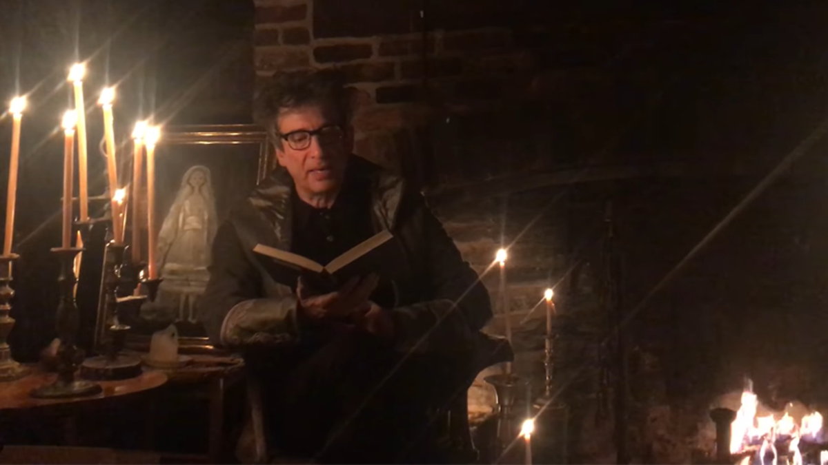 Neil Gaiman Reading The Raven in Front of a Crackling Fireplace Is Like a Warm Blanket For Our Ears