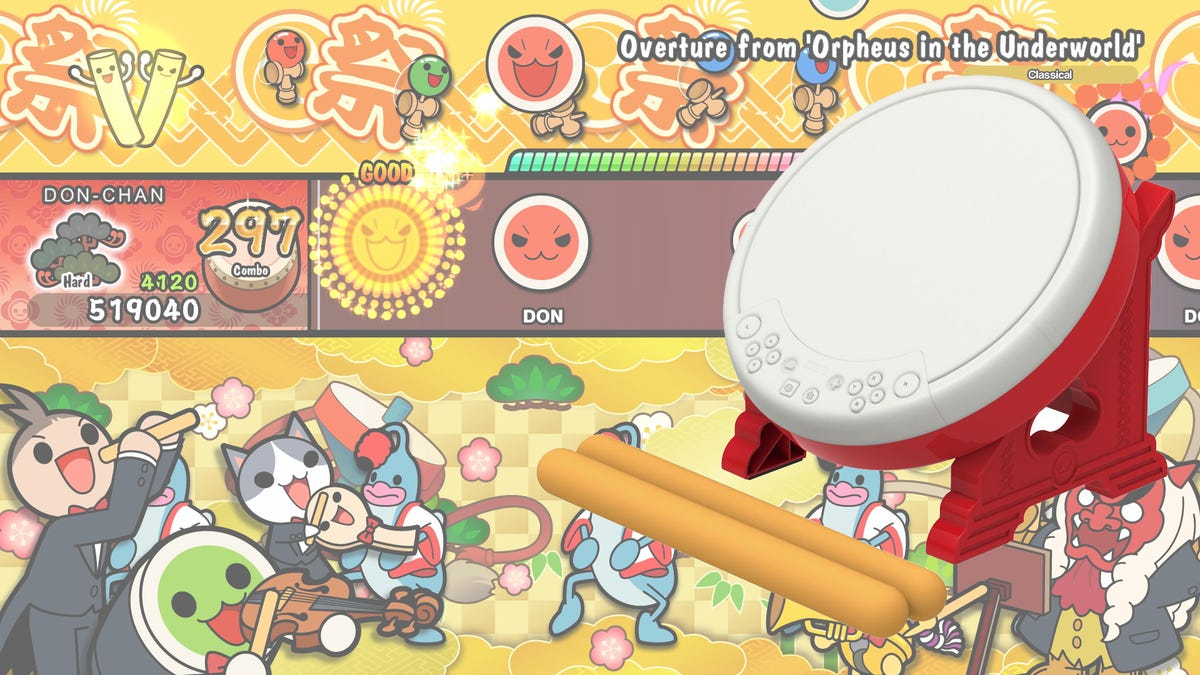 My New Exercise Regiment Is A Plastic Taiko Drum Controller