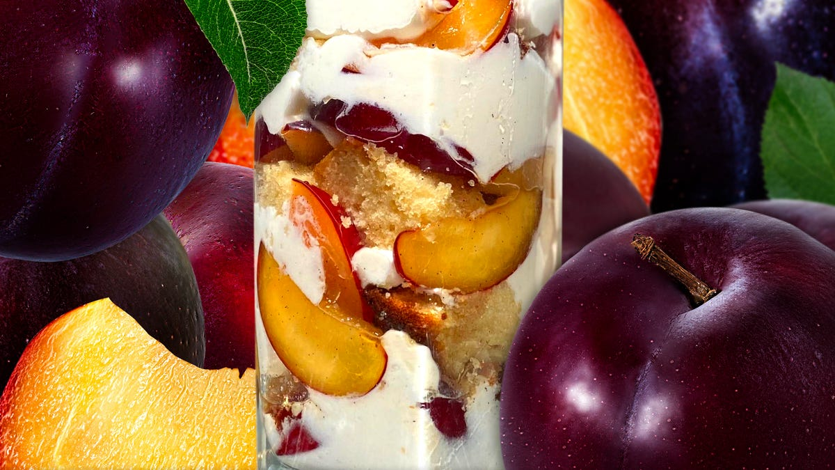 Make Plum Trifle, the fanciest dessert for the hottest afternoons