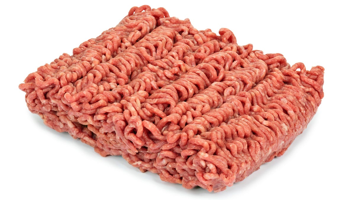 If my ground beef has turned brown, should I put it down?