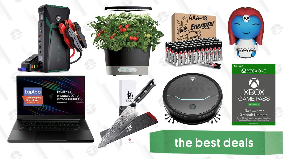 Tuesday's Best Deals: Razer Blade, Xbox Game Pass Ultimate, AAA Batteries, Tacklife 800A Jump Starter, Kyoku Chef Knife, Bissell Robot Vacuum, AeroGarden, and More - RapidAPI
