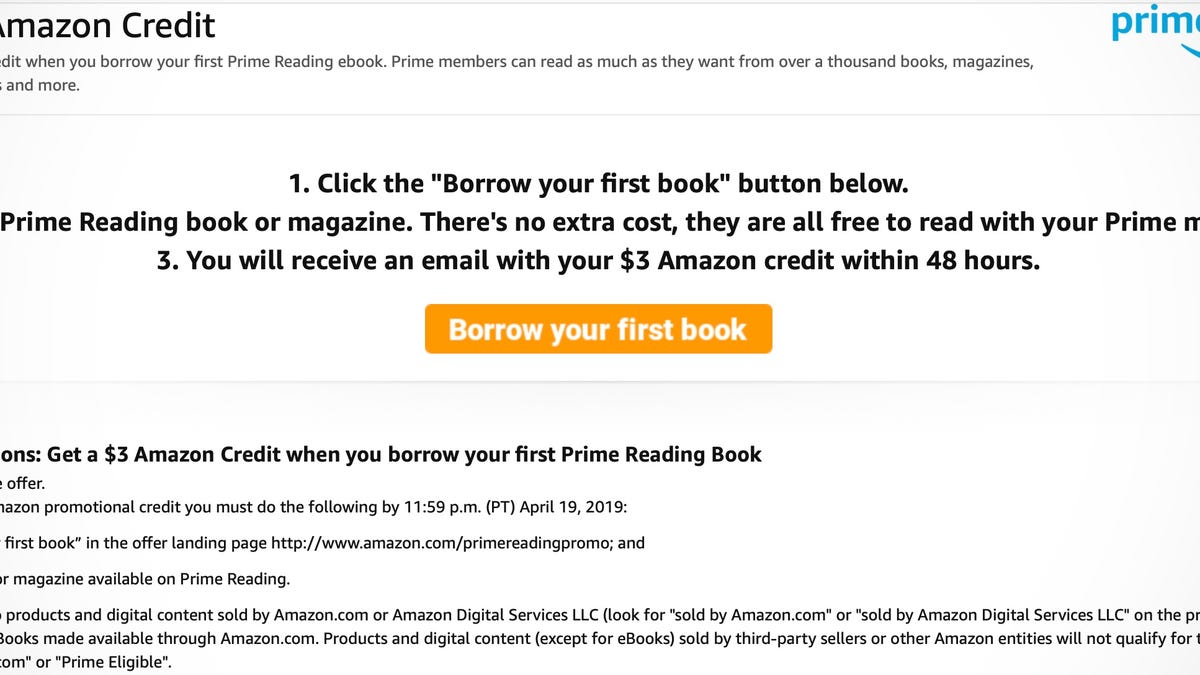 Have Prime Click Two Buttons To Get A Free 3 Amazon Credit
