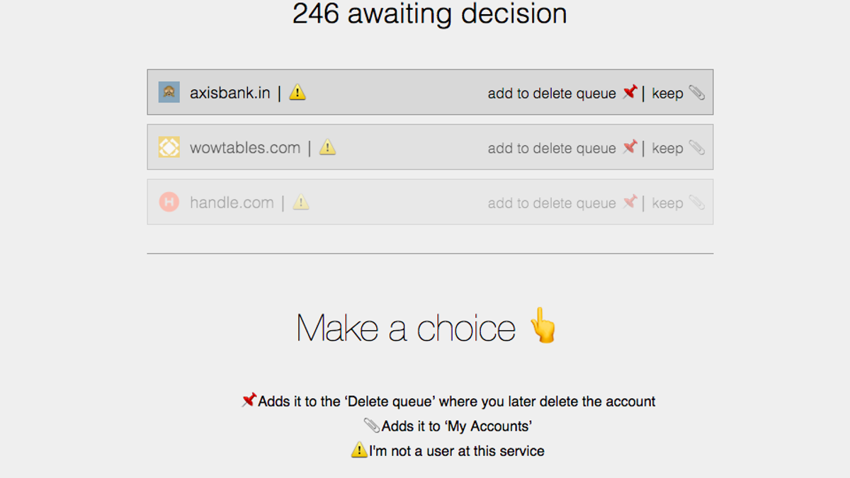 Deseat.me Finds and Helps You Delete Random Accounts You've Signed Up For