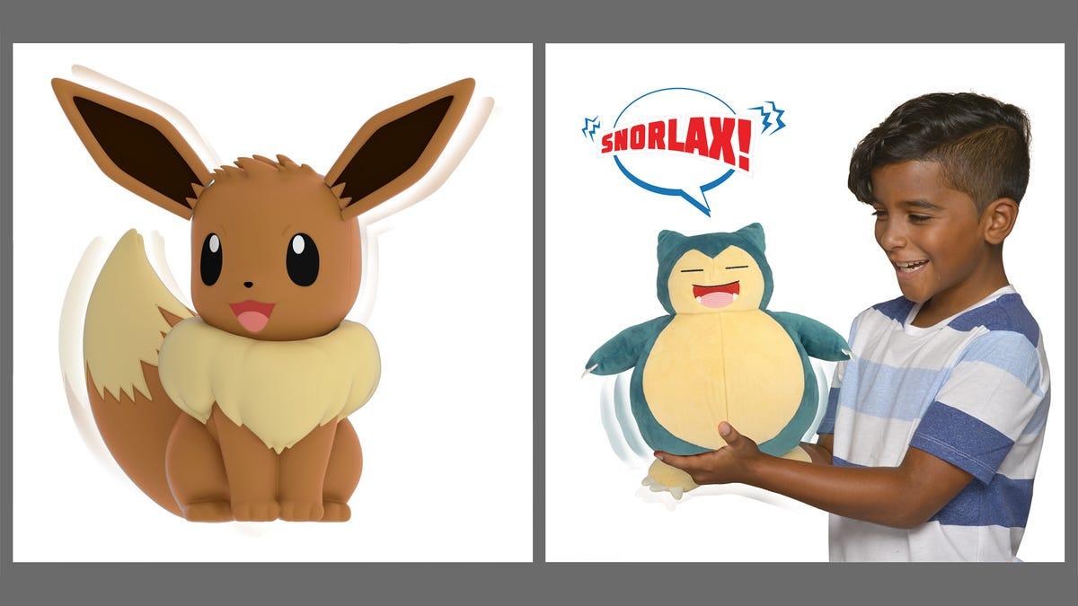 Hey Kids, It's My Partner Eevee And Snooze Action Snorlax - Kotaku