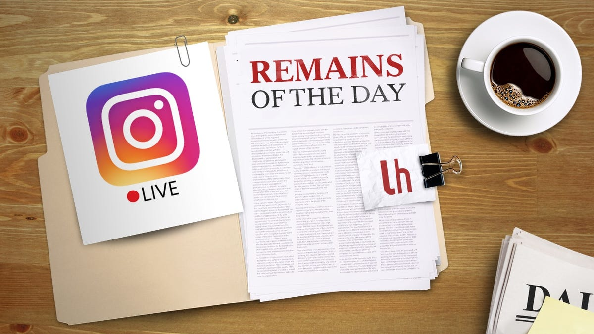 Remains of the Day: Instagram to Add Live Video