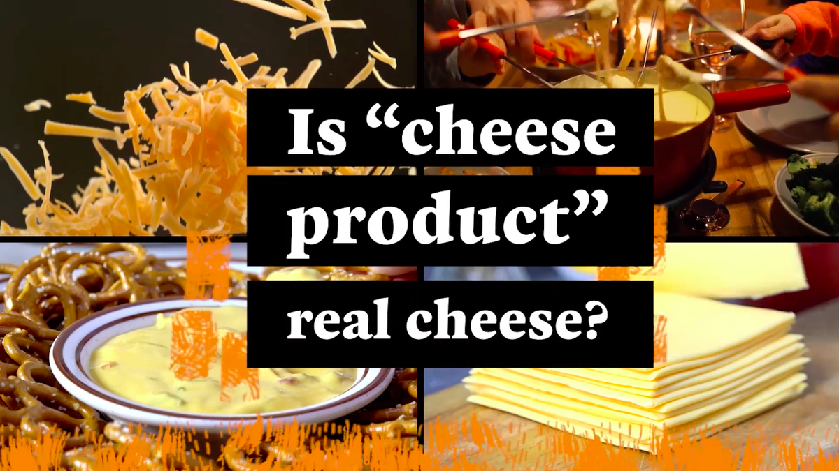 """Is """"processed cheese product"""" real cheese?"""