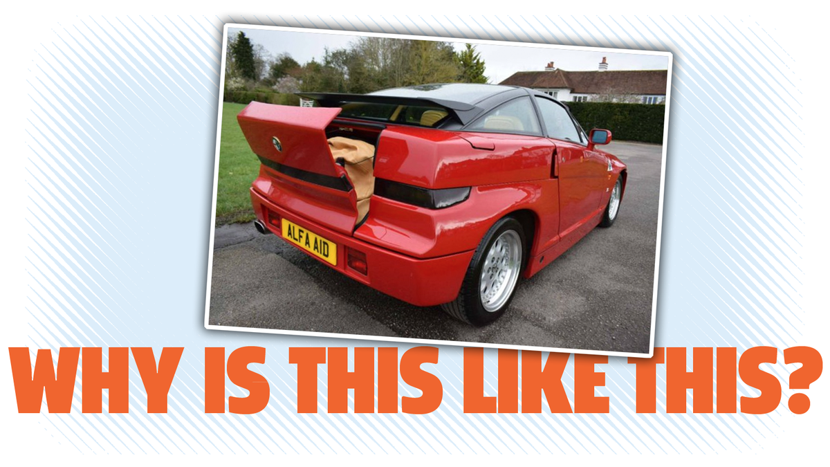 The Alfa Romeo SZ Has An Incredibly Confusing Trunk