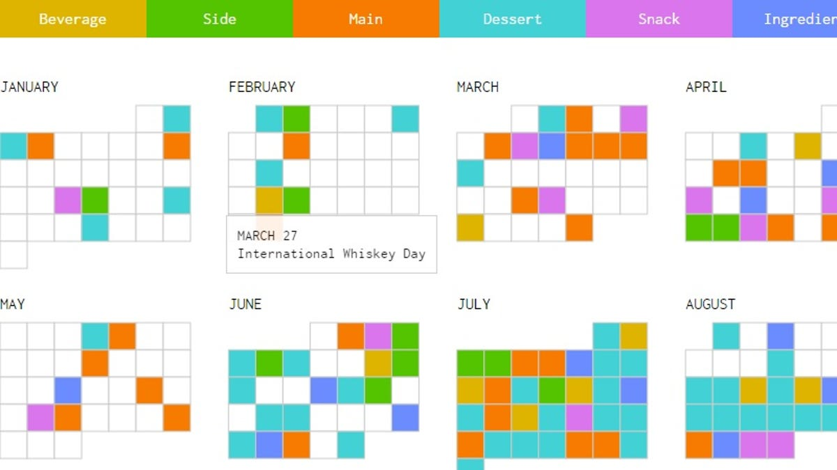 Keep Track of Every National Food Day With This Interactive Calendar