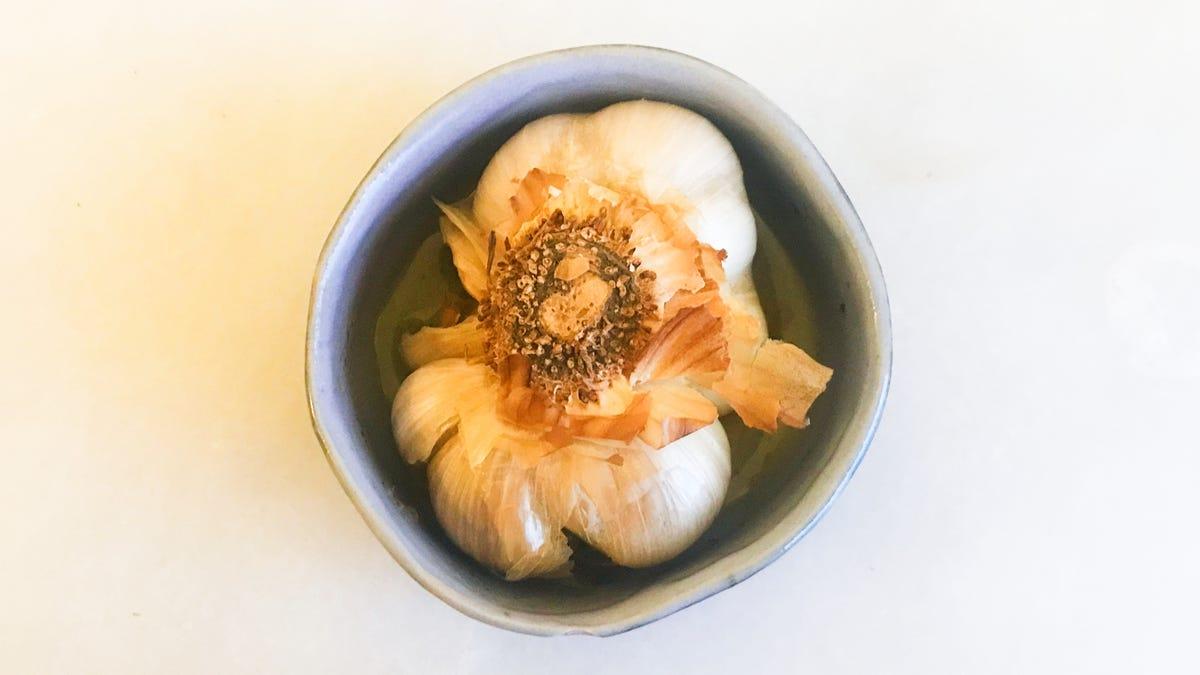 Roast Your Garlic Upside Down