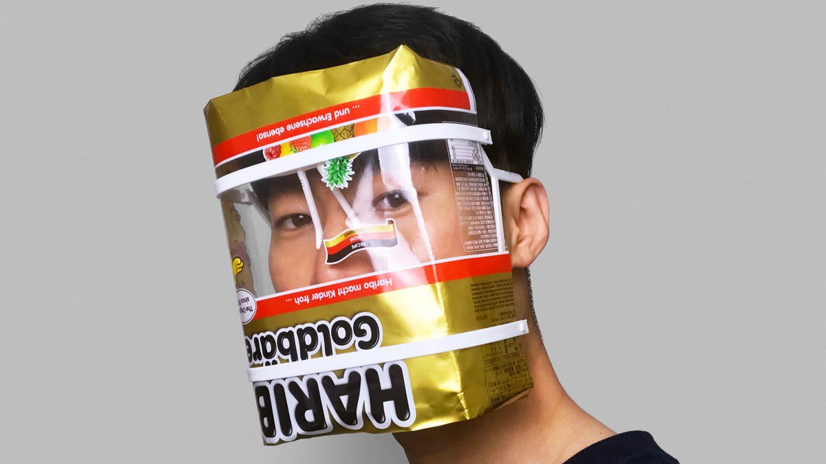 This DIY Face Shield Gives You an Excuse to Stress-Eat Gummy Bears