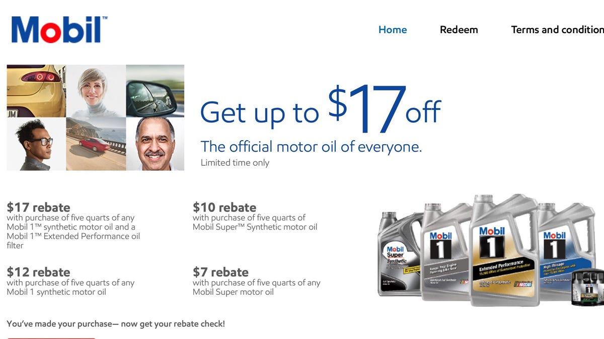 Mobil 1 Rebate >> Your Mobil 1 Rebate Psa
