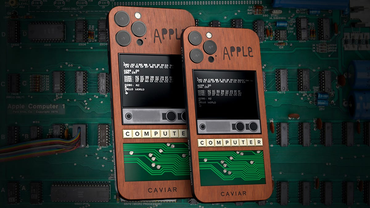 A Rare Original Apple 1 Computer Was Sacrificed For These Ugly Custom iPhones