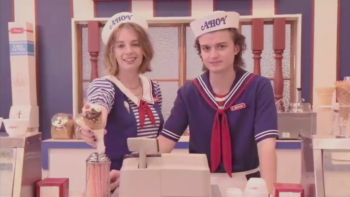 Steve Harrington gets a job at the mall in our first look at Stranger Things season 3