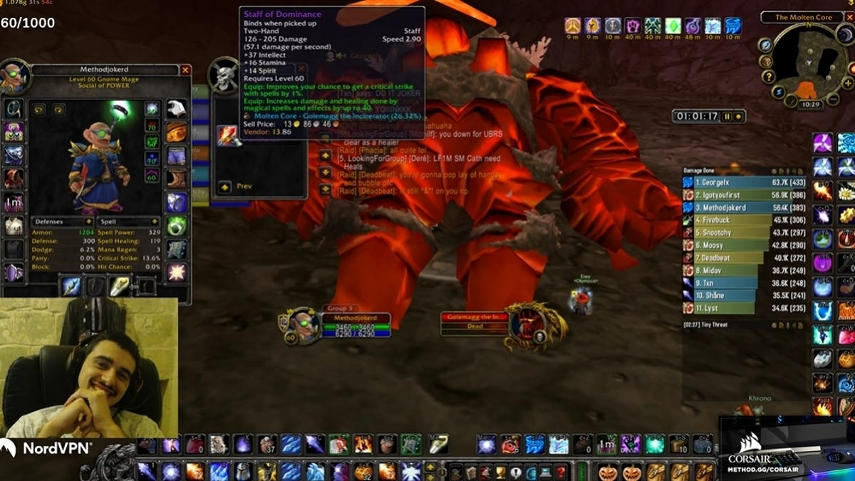 First Streamer To Hit 60 In WoW Classic Kicked From Top Esports Organization For Stealing Item