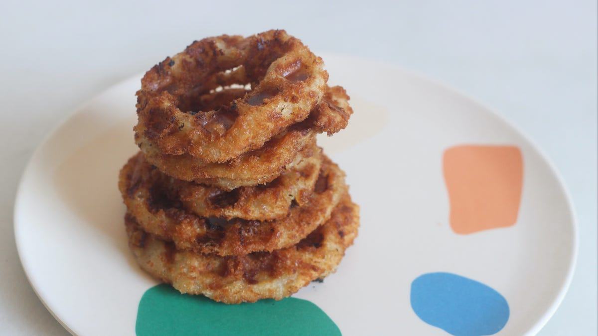 You Can Waffle Onion Rings Straight From the Freezer
