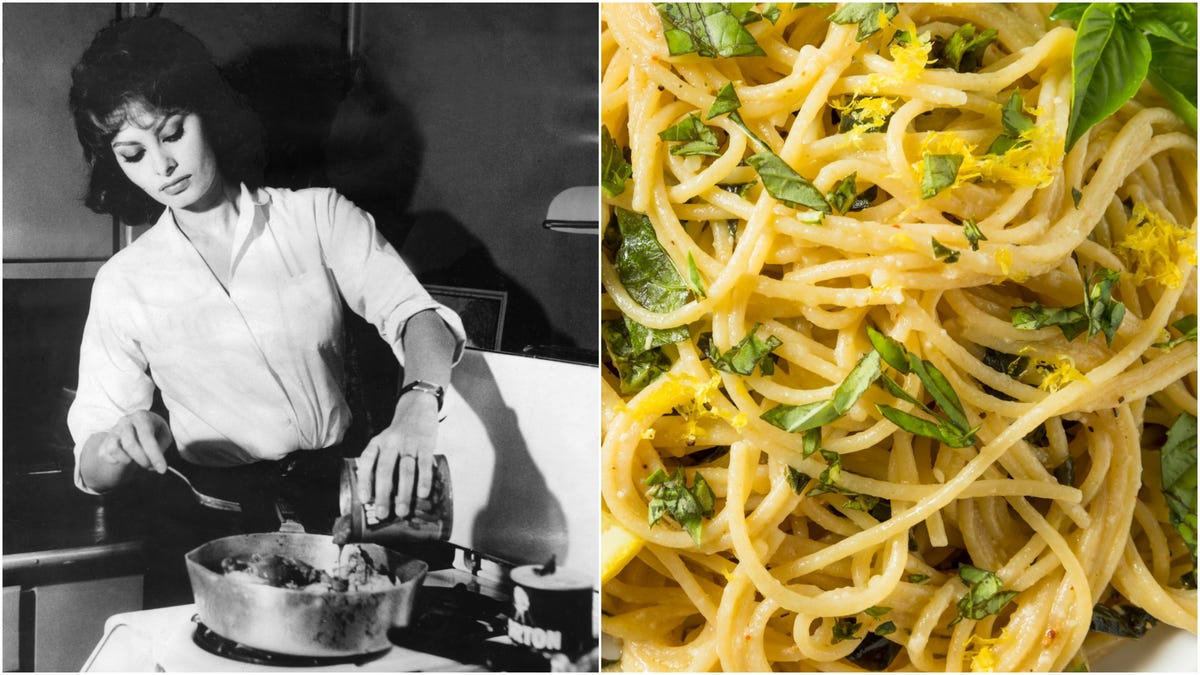 You'll owe everything to Sophia Loren's lemon spaghetti