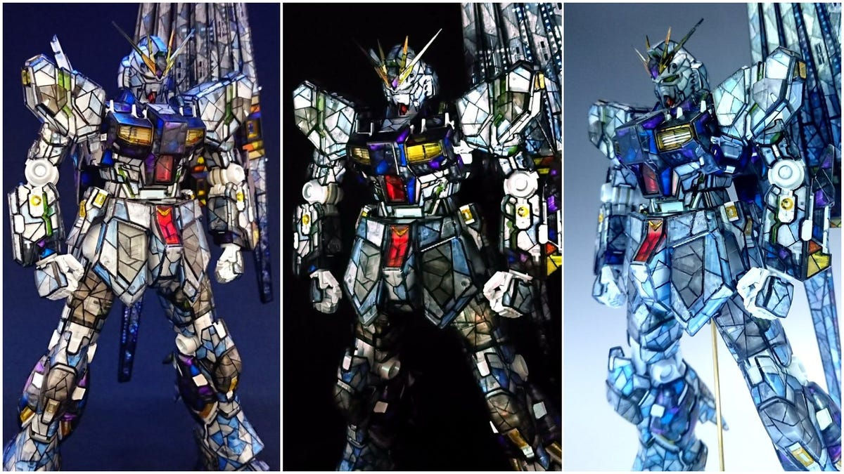 Custom Gundam Paint Job Looks Like Stained Glass