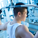 behind-the-neck lat pulldown