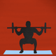 person squatting