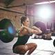 woman doing a front squat