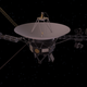 Artistic conception of a Voyager spacecraft.