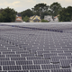 Solar photovoltaic panels generate electricity at an Exelon solar power facility on Sept. 1, 2010 in Chicago, Illinois. The 10-megawatt facility located on the city's south side is the largest urban solar installation in the United States.
