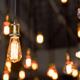 Hanging lightbulbs of various kinds