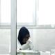 researcher in a COVID lab