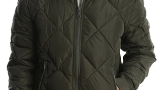 JACHS NY Green Quilted Puffer Jacket