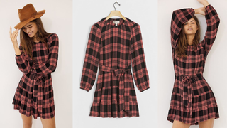 Cloth & Stone Daia Plaid Mini Dress