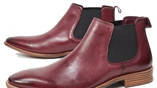 Silver Street Chelsea Boots in Burgundy Leather
