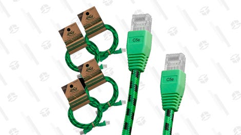 4-Pack: 7-Foot CAT5e Networking Cables