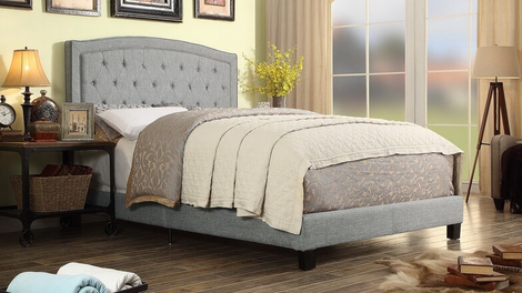 Andover Mills Pascal Tufted Upholstered Low Profile Bed