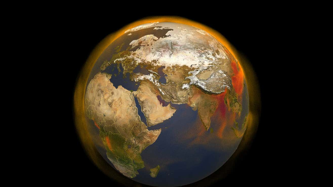 A 3D portrait of methane concentrations and a slightly wobblier Earth.